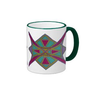 taza con imagen tribal