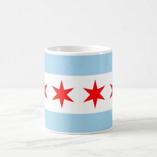 Taza con la bandera de Chicago - los E.E.U.U.