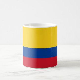Taza con la bandera de Colombia