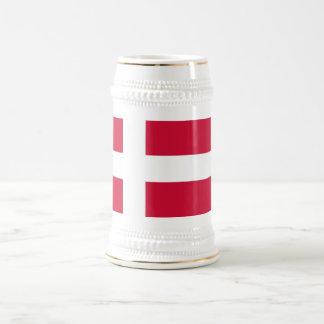 Taza con la bandera de Dinamarca
