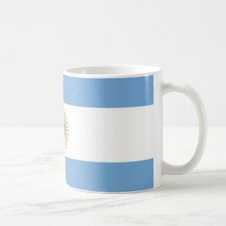 Taza con la bandera de la Argentina