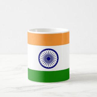 Taza con la bandera de la India