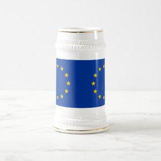 Taza con la bandera de la unión europea