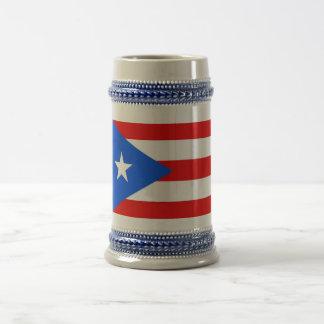 Taza con la bandera de Puerto Rico - los E.E.U.U.