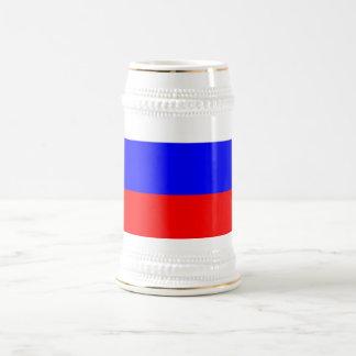 Taza con la bandera de Rusia