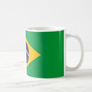 Taza con la bandera del Brasil