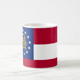 Taza con la bandera del estado de Georgia - los