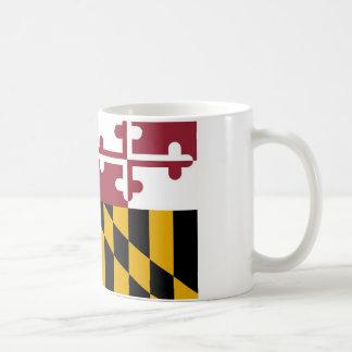 Taza con la bandera del estado de Maryland - los E