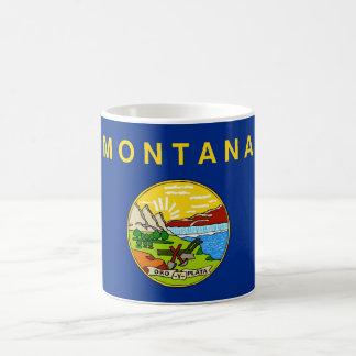 Taza con la bandera del estado de Montana - los