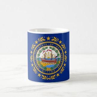 Taza con la bandera del estado de New Hampshire -