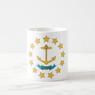 Taza con la bandera del estado de Rhode Island - l