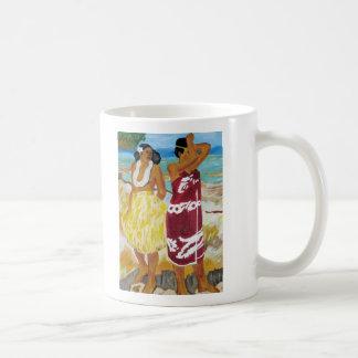 Taza con la pintura de las mujeres de Tahitian