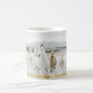Taza con los caballos preciosos