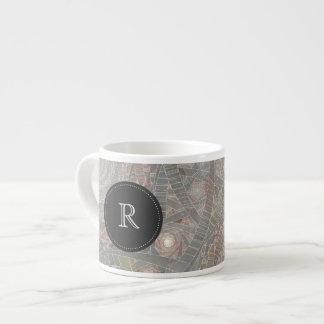 taza con monograma del café express del taza espresso
