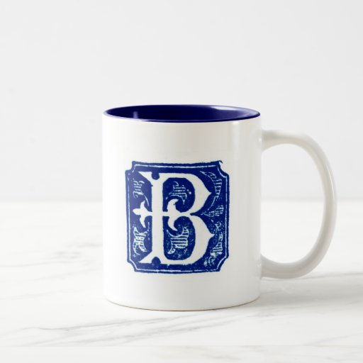 Taza con monograma - letra B