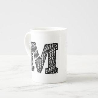 "Taza con monograma: Letra ""M "" Taza De Porcelana"