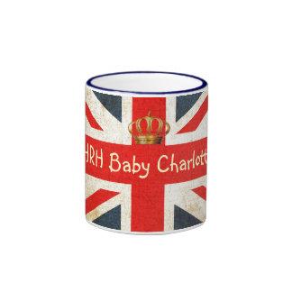 Taza conmemorativa de Charlotte del bebé real de