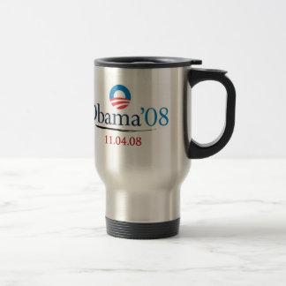 Taza conmemorativa del viaje de Obama '08 del