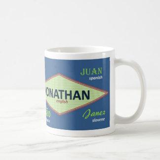 Taza conocida internacional de Jonatán