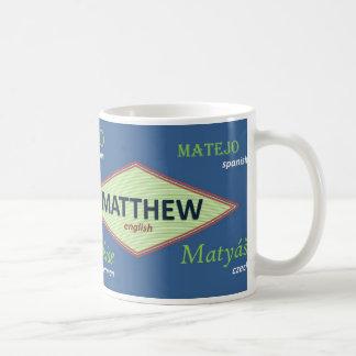Taza conocida internacional de Matthew