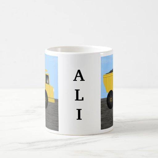 Taza conocida personalizada camión volquete de Ali