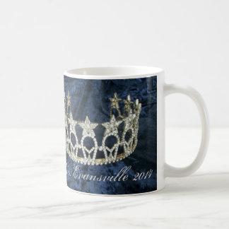 Taza conocida personalizada corona de plata del