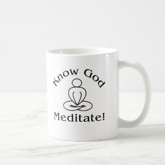 Taza - conozca a dios, meditate