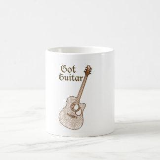 Taza conseguida de la guitarra