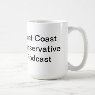 Taza conservadora 15oz del logotipo del podcast de