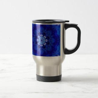 Taza coralina del viaje del azul real