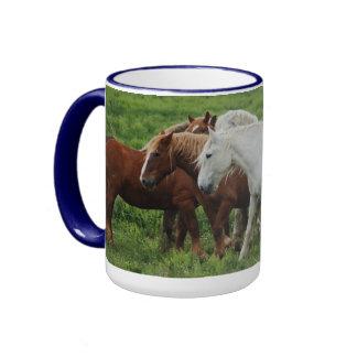 Taza corriente de los caballos