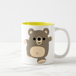 Taza corriente linda del oso del dibujo animado