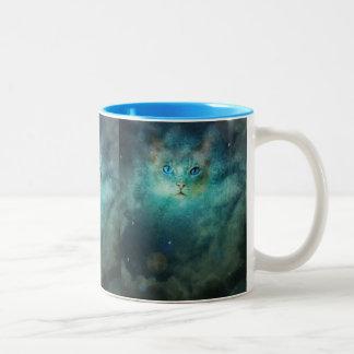 Taza cósmica del gato