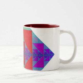 Taza cuadrada del RGB Sierpinski