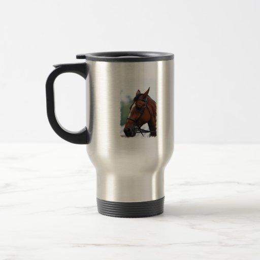 Taza cuarta del viaje del perfil del caballo