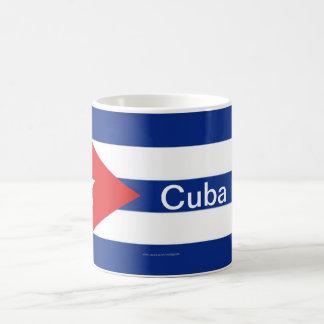 Taza cubana de la bandera