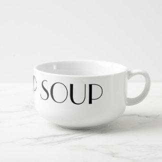 Taza-Cuenco de encargo de la sopa de la sopa de la Tazón Para Sopa