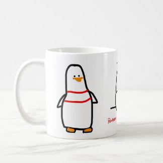 Taza de 3 pájaros - pingüinos con problemas de la taza básica blanca