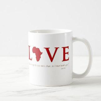 Taza de África del amor