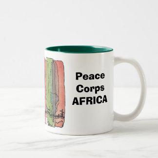 Taza de África del cuerpo de paz