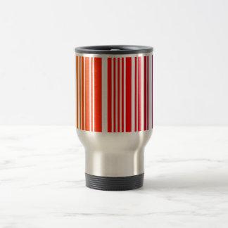 Taza de aluminio coloreada del viaje del código de