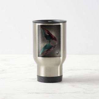Taza de aluminio del viaje con el vidrio del