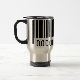 Taza de aluminio del viaje del código de barras ne