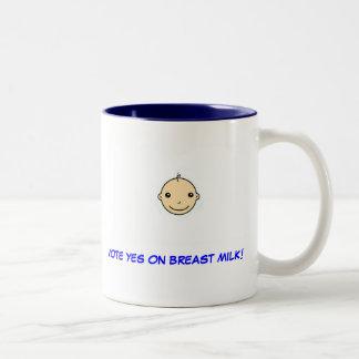 Taza de amamantamiento (voto sí en la leche
