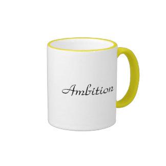 Taza de ambición