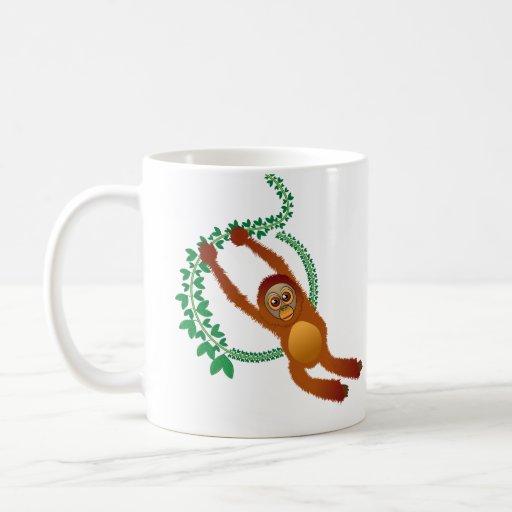 Taza de balanceo del orangután