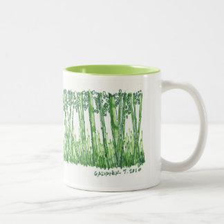 Taza de bambú del bosquejo