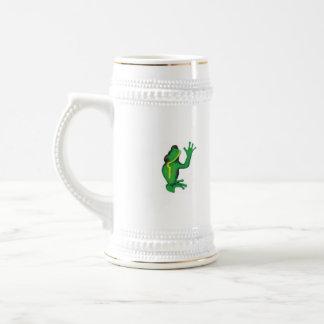 Taza de bambú tropical de las logotipo-ranas
