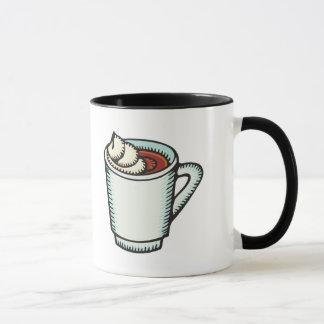 taza de cacao caliente con crema azotada