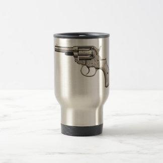 Taza de café a prueba de balas del arma del